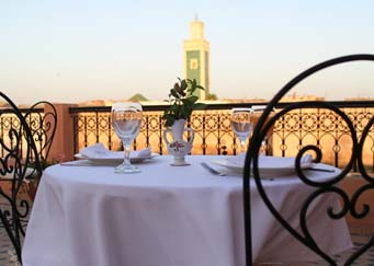 Terraza Riad Yacout Meknes